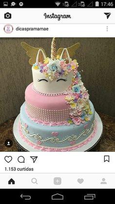 24 ideas of best birthday cake Unicorn for girls read-it-later Unicorn Themed Birthday, Birthday Cake, Happy Birthday, Beautiful Cakes, Amazing Cakes, Cakes Today, Unicorn Baby Shower, Crazy Cakes, Cute Cakes