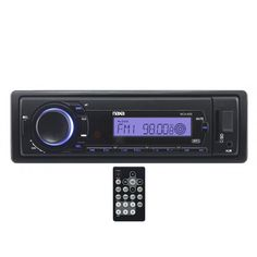 Naxa Detachable PLL Electronic Tuning Stereo AM/FM Radio MP3 Player with ID3 Text Function, USB Input, SD/MMC Card Slot & Aux-In Jack