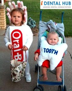 Funny Toothbrush and Baby-Tooth..  Clink for Free Dental Consultation @  Identalhub