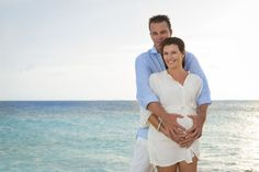 Inspiration For Pregnancy and Maternity : BEACH MATERNITY PHOTOS | Caribbean Sunset Maternity Session