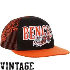 on sale fc553 645c0 Cincinnati Bengals NFL snapback hat Mitchell   Ness new AFC Football Who Dey