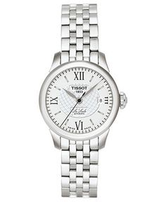 Tissot Watch, Women's Swiss Automatic Le Locle Stainless Steel Bracelet 42mm T41118333 - Tissot - Jewelry & Watches - Macy's