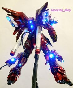 MG 1 / 100MG Gundam Sinanju renovation painted PVC LED with - Yahoo! Auctions