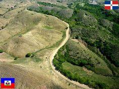 Frontera de Haiti y Republica Dominicana. La diferencia ecologica es muy grande...!