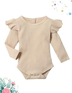 100% Cotton Imported ♥ Material: Cotton.Soft and Comfortable Baby Clothes for Girl, Quickly Dry and Breathable. ♥ Perfect Romper for you little cute girl, cute newborn baby girl clothes in spring, autumn and winter. Your girl will get lots of compliments ♥ Baby girl clothes newborn,baby clothes for girl 0-3 months,baby girl outfits 3-6 months, baby clothes girl outfits 6-9 months, cute girl baby clothes 9-12 months, ,12-18 months toddler baby girl clothes. Ribbed Bodysuit, Baby Bodysuit, Babe, Designer Baby, Children's Boutique, Long Sleeve Bodysuit, Baby Outfits, Baby Girl Newborn, Simple Dresses