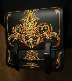 A saddlebag dipped in paint by Robin Backman