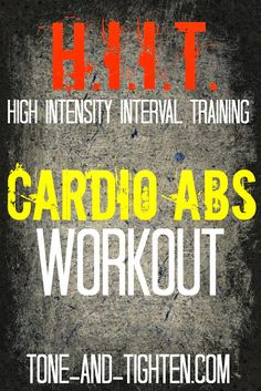 45 Minute HIIT Cardio Abs Workout on Tone-and-Tighten.com #workout #fitness