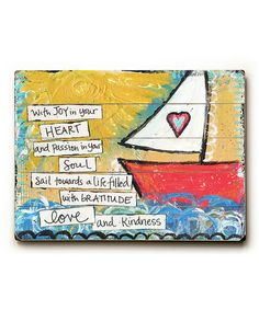 Take a look at this 'With Joy' Wall Art by ArteHouse on #zulily today!