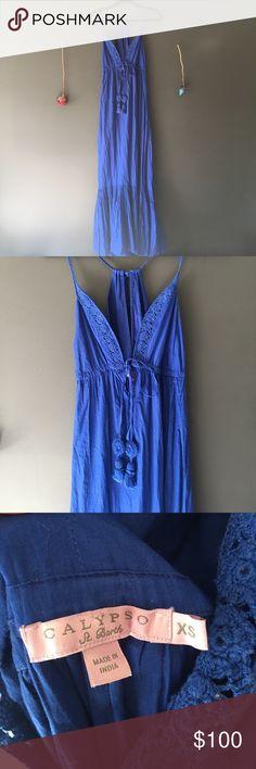 CALYPSO ST BARTH Boho Maxi Dress CALYPSO ST BARTH Boho Maxi Dress w/ crochet neckline. Perfect summer dress to wear day to night! Sexy, feminine and flattering! Worn 2-3 times. SIZE XS Calypso St. Barth Dresses Maxi