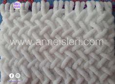 capraz-hasir-orgu-modeli-1 Finger Knitting, Knitting Yarn, Baby Knitting, Knitted Baby Blankets, Merino Wool Blanket, Free Crochet, Knit Crochet, Personalized Baby Blankets, Yarn Projects