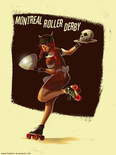 itsrollerderbybitches: Montreal Roller Derby by fstarno