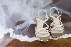 Wedding Day Accessories Silver Heels Lace Edge Veil | Gale-Vineyard-Chico-California-Wedding-Engagement-Photographer