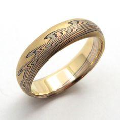 Sunset Mokume Gane Ring | D&H Sustainable Jewelers