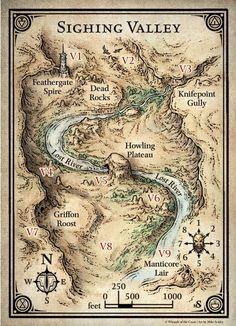 D&D Mapas da Aventura Princes of the Apocalypse (Elemental Evil) Fantasy Map Making, Fantasy World Map, Fantasy City, Fantasy Rpg, Rpg Map, Forgotten Realms, Dungeon Maps, Treasure Maps, Art And Illustration