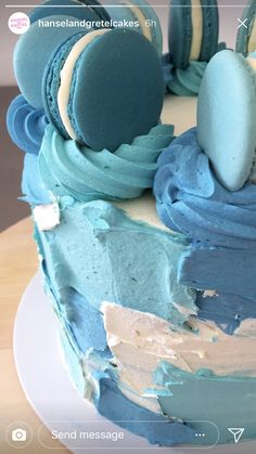 Baby shower cake idea. Buttercream
