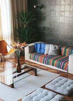 Decoração: Manta no sofá | Just Lia