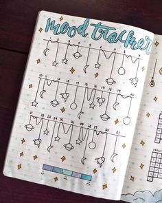 Bujo mood trackers that can help improve your mental health. This mood tracker . - DIY for home - Bujo mood trackers that can help improve your mental health. These mood trackers … - Bullet Journal Tracker, Bullet Journal Weekly Spread, Bullet Journal 2019, Bullet Journal Aesthetic, Bullet Journal Notebook, Bullet Journal Ideas Pages, Bullet Journal Layout, Bullet Journal Inspiration, Bullet Journal Health