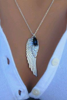 Black Swan White Angel Wing Sterling Silver by RoyalGoldGifts Cute Jewelry, Jewelry Accessories, Jewelry Design, Unique Jewelry, Sterling Silver Necklaces, Silver Jewelry, Silver Ring, Jewelery, Jewelry Necklaces