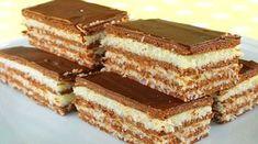 Božské kokosové řezy s luxusní čokoládovou polevou připravené bez pečení! | Vychytávkov