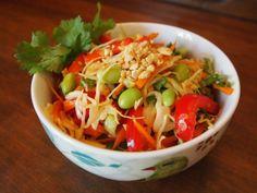 Asian Ginger-Peanut Slaw, YUM! Recipe here: http://www.peta.org/living/food/asian-ginger-peanut-slaw/ #veganfood #healthyrecipes