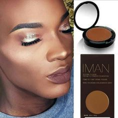"""Checkout  @kiingjael youtube channel for a tutorial on achieving this flawless look with @imancosmetics  cream to powder foundation in """"Earth 3"""" #teeka4"""