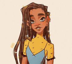 Girl Drawing Sketches, Cartoon Girl Drawing, Girl Cartoon, Art Drawings, Foto Cartoon, Dope Cartoon Art, Cartoon Art Styles, Black Girl Art, Black Women Art