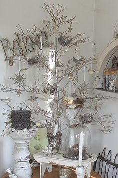 Shabby Chic repurposed Christmas decor