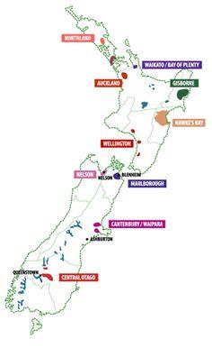 New Zealand Wine Region Map