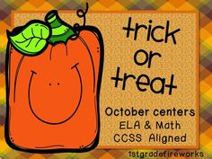 Fall ELA & Math Centers! See it in action! http://1stgradefireworks.blogspot.com