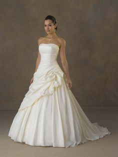 Strapless Slim Trumpet Beaded Empire Wedding Dress