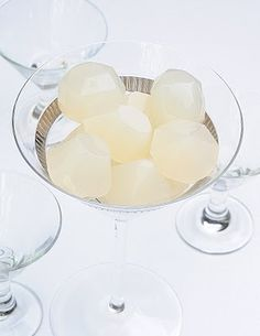 Pear Cosmopolitan Jelly Shots - White Cranberry Juice, Grey Goose, Limeade, Cointreau