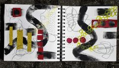 Sketchbook - conny / Aquarelle,Collage,Pastell,Acryl,Mixed Media