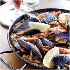 Seafood paella for dinner tonight~ =) Have to make recipe adjustments as usual Chicken Paella, Seafood Paella, Recipe Adjuster, Beef Cheeks, The Fish Market, Paella Recipe, International Recipes, Popular Recipes, Dinner Tonight