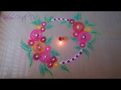 Beautiful Rangoli Designs With Colours and Flowers - Ideas For Festivals - Rangoli by Maya! - YouTube