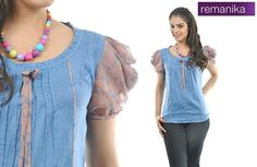 41cff0abe07a8 Remanika Fancy Blue Top - Buy Women s Tops   Tshirts on Snapdeal.com