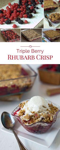Individual Cherry Almond Crisps | Recipe | Cherries, Almonds and The ...