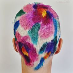 Latest Hair Color, Cool Hair Color, Shaved Head Designs, Buzzed Hair, Global Hair, Shaved Hair, Hair Painting, Dream Hair, Rainbow Hair