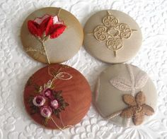 Covered Buttons made by EmbellishedLife2 on Etsy