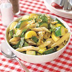 Pasta salad with Eggplant, Zucchini and Squash--use Gluten-free pasta
