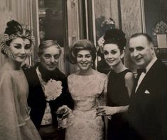 Jacqueline de Ribes, Baron Guy de Rothschild, Sarah Bernhardt, Audrey Hepburn, and Georges Pompidou, 1962