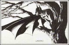 Bernie Wrightson Batman, in John Kelly's Bernie Wrightson Comic Art Gallery Room Batman Comic Art, I Am Batman, Batman Comics, Illustration Batman, Ink Illustrations, Batman Drawing, Comic Drawing, Bernie Wrightson, Dc Comics Art