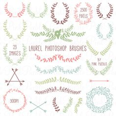 Check out Laurel Photoshop Brushes by PinkPueblo on Creative Market