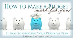 How to Make a Budget Work for you! Grab this Free Budget Worksheet & Household Planner Pages and create your own personalized household budget. Financial Peace, Financial Goals, Budgeting Finances, Budgeting Tips, Ways To Save Money, Money Saving Tips, Saving Ideas, Household Budget, Making A Budget
