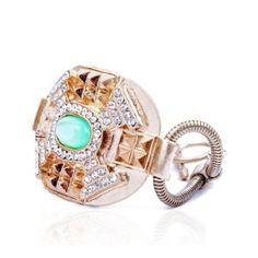 Gold Embossed Ornament Bracelet