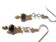 Rustic Black Earrings Antiqued Silver Earrings by chicagolandia, $13.00
