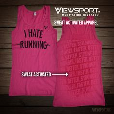 I Hate Running tank. Who doesn't? Burn off the holiday treats and reveal the hidden messages as you sweat!