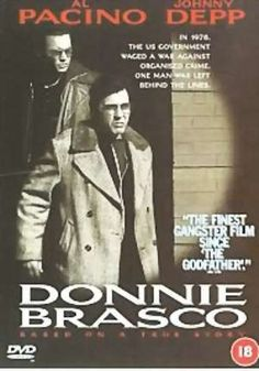 Donnie Brasco Al Pacino n Johnny Depp.together, i died and lived again to watch this! Donnie Brasco, Top Movies, Comedy Movies, Movies And Tv Shows, Bruno Kirby, Gangster Movies, Go To The Cinema, True Crime Books, Johnny Depp Movies