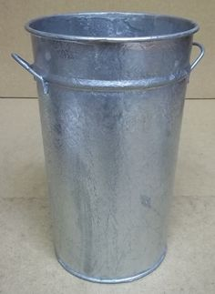 Generic Decorative Bucket 12in x 9in 114-32ey * Steel -- Used