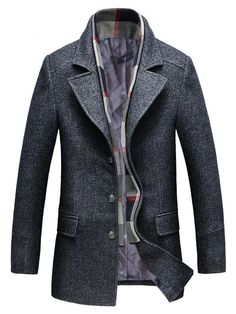 Special Beauty and Handsome New and Winter Coat Male Business Casual Mens Woolen Jacket Slim Long Sections Coat