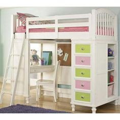 girls loft beds for teens berg furniture play and study loft bed with computer desk cool stuff i want to do to my house but wonu0027t pinterest lofts